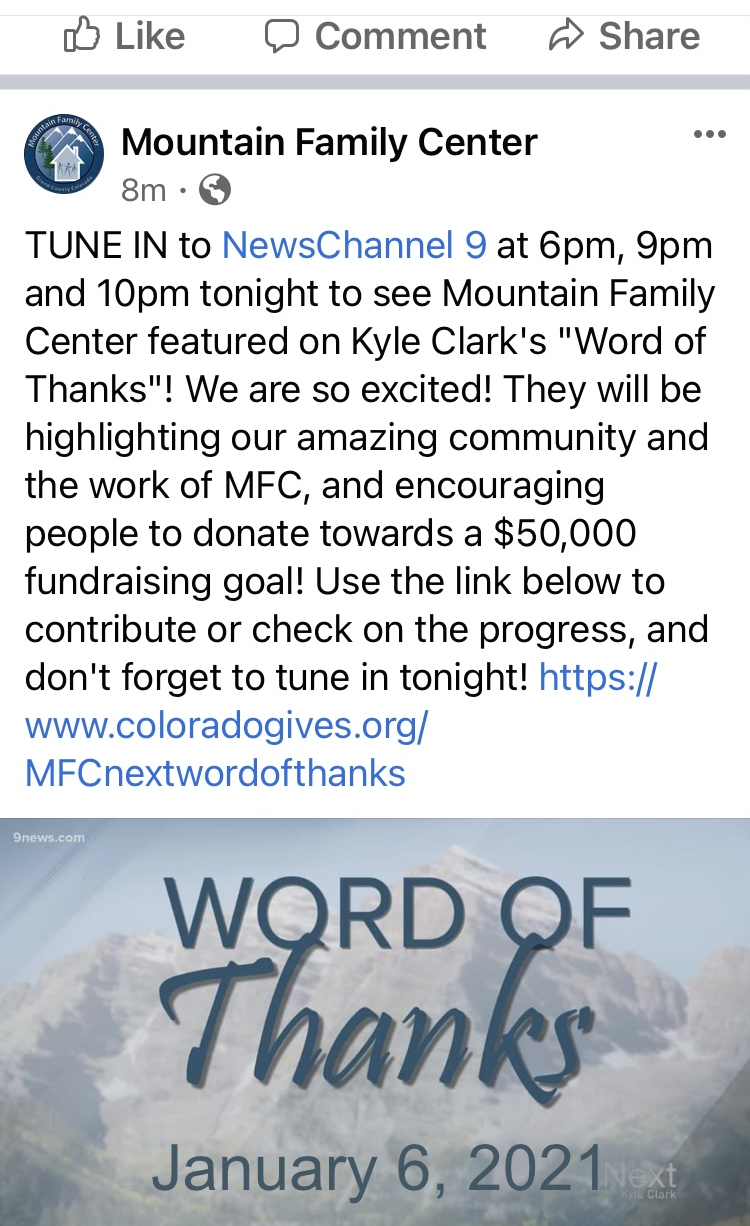 MFC Word of Thanks